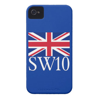 London Postcode SW10 with Union Jack iPhone 4 Covers