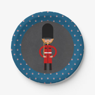 London Queen  Guard Style Kids Birthday Party 7 Inch Paper Plate