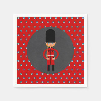 London Queen  Guard Style Kids Birthday Party Disposable Napkin