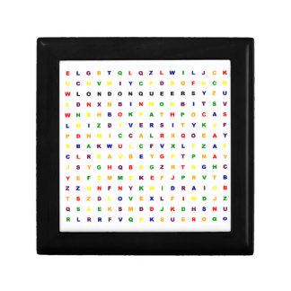 London Queers Wordsearch Small Square Gift Box