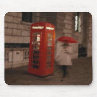 London Rainy Day Phone Box / Umbrella Mousepad
