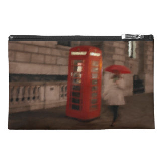 London Rainy Day Red Phone Box Travel Bag Travel Accessories Bag
