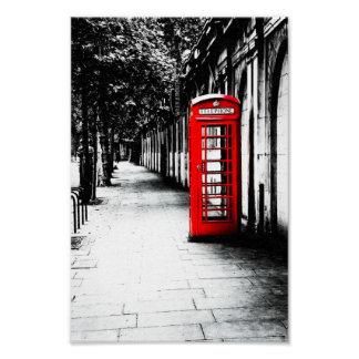 London Red British Phone Box - 8x12 Archival Poster