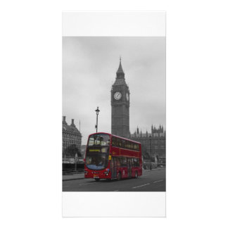 London Red bus Customised Photo Card