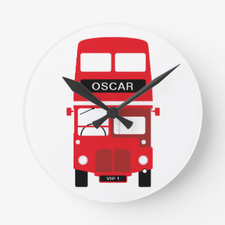 London Red Bus Personalised Clock
