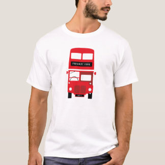 London Red Bus Personalised Private Hire T-Shirt