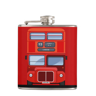 London Red Double Decker Bus Flask