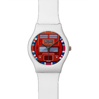 London Red Double Decker Old Bus Watch