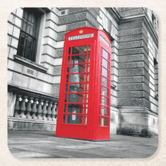 London Red Phone Box Coaster