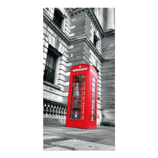 London Red Phone Box Custom Photo Card