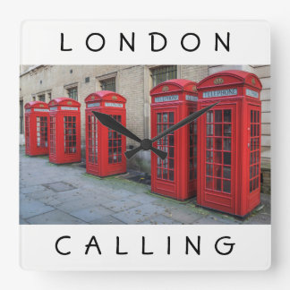 London red phone boxes wall clock