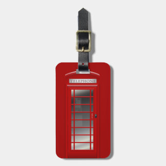 London Red Phone Call Box Luggage Tag
