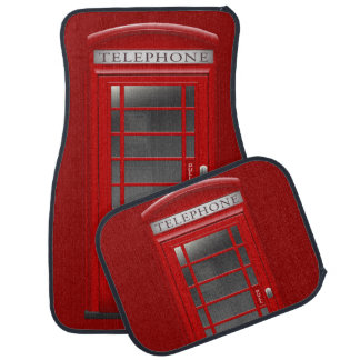 London Red Phone CallBox Car Mats