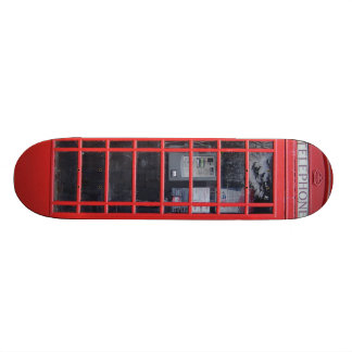 London Red Telephone Box 18.1 Cm Old School Skateboard Deck
