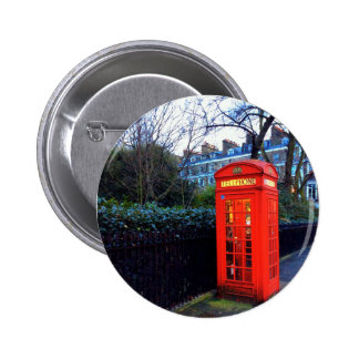 London Red Telephone Box Badge