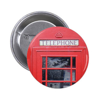 London Red Telephone Box Buttons
