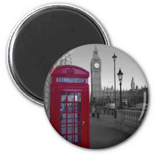 London Red Telephone box Refrigerator Magnet