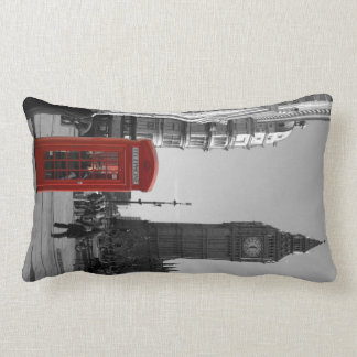 London Red Telephone Box Pillow