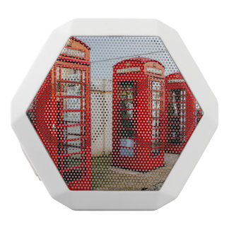 London Red Telephone Boxes, Photograph White Boombot Rex Bluetooth Speaker
