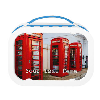 London Red Telephone Boxes, Photograph Lunch Box