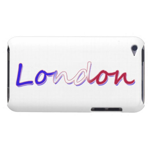 London - Red White and Blue - On White iPod Touch Cover