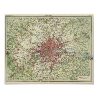 London Region Map Poster