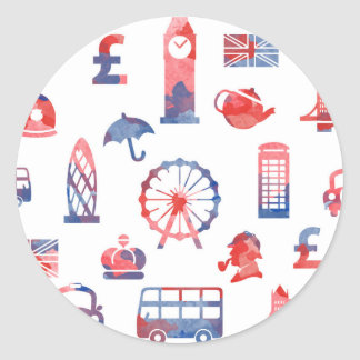 London Round Sticker - Classic Glossy Sticker