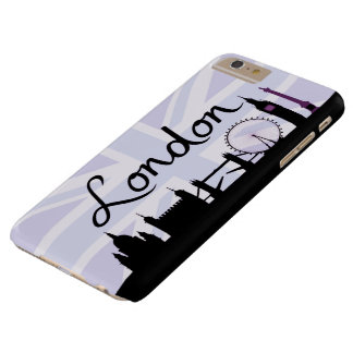 London Script on Union Jack Sky & Sites Purple Barely There iPhone 6 Plus Case
