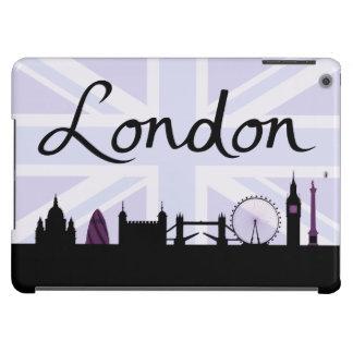 London Script on Union Jack Sky & Sites Purple Cover For iPad Air