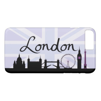 London Script on Union Jack Sky & Sites Purple iPhone 8 Plus/7 Plus Case