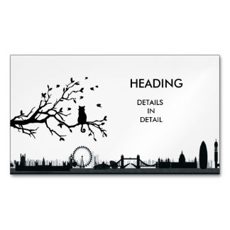 LONDON Shadows Magnetic Business Cards