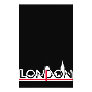 London silhouette and English flag Flyer