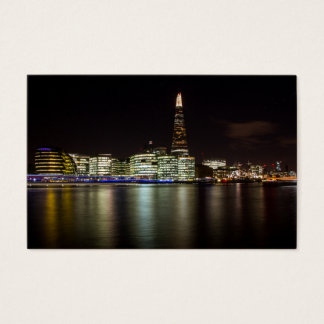 LOndon Skyline at Night, with the Shard Business Card