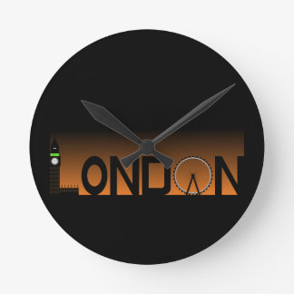 London skyline clocks