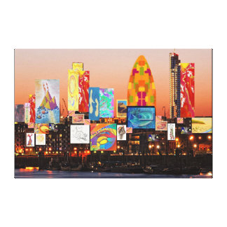 London Skyline Collage 2 Canvas Print