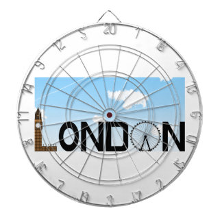 London Skyline Daytime Dartboard