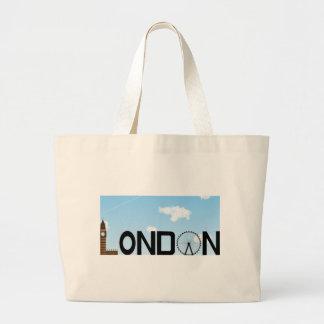 London Skyline Daytime Large Tote Bag