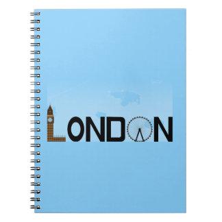 London Skyline Daytime Notebook