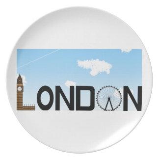London Skyline Daytime Plate