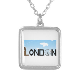 London Skyline Daytime Silver Plated Necklace