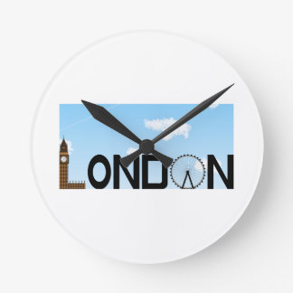 London Skyline Daytime Wall Clocks