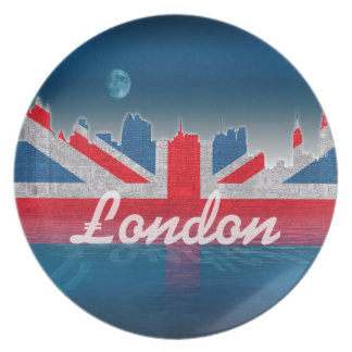 London skyline dinner plates
