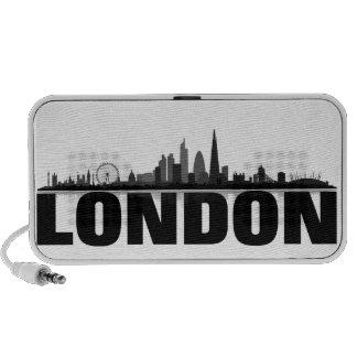 London Skyline Doodle Lautsprecher Portable Speakers