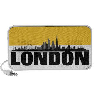 London Skyline Doodle Lautsprecher Notebook Speakers