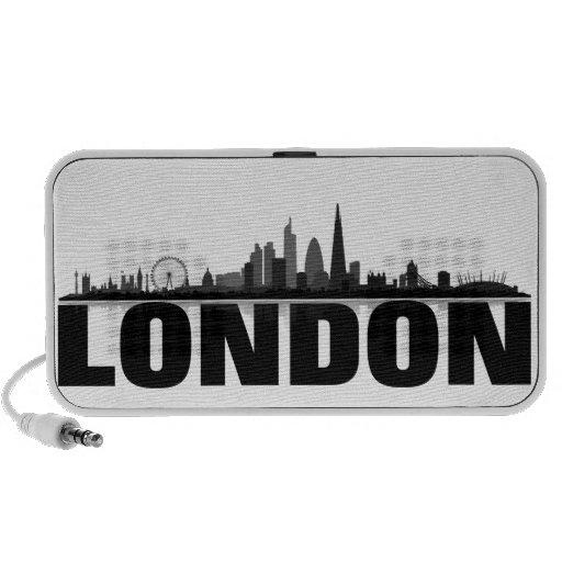London skyline Doodle loudspeaker Travelling Speaker