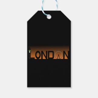 London skyline gift tags