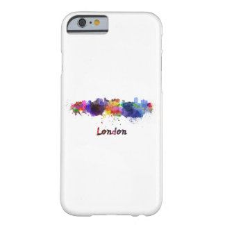 London skyline in watercolor barely there iPhone 6 case