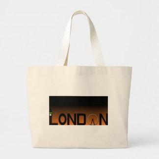 London skyline large tote bag