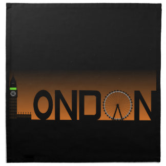 London skyline napkin