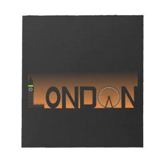 London skyline notepad